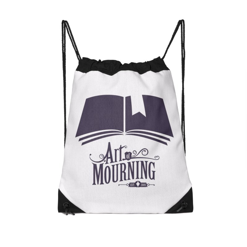 Art of Mourning 'Knowledge' Accessories Drawstring Bag Bag by The Art of Mourning Shop