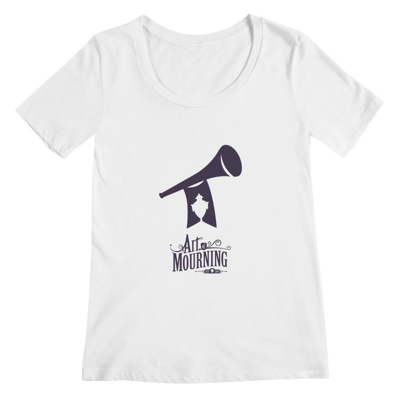 Art of Mourning 'Mourning Announcement' Women's Scoopneck by The Art of Mourning Shop