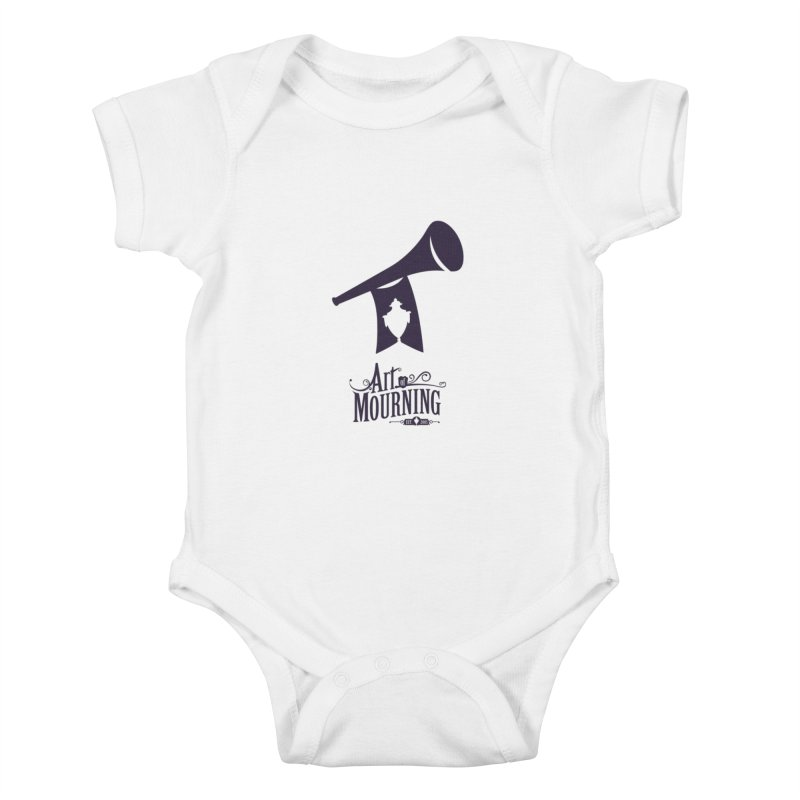 Art of Mourning 'Mourning Announcement' Kids Baby Bodysuit by The Art of Mourning Shop