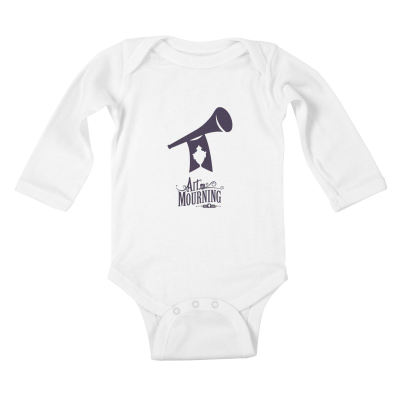 Art of Mourning 'Mourning Announcement' Kids Baby Longsleeve Bodysuit by The Art of Mourning Shop