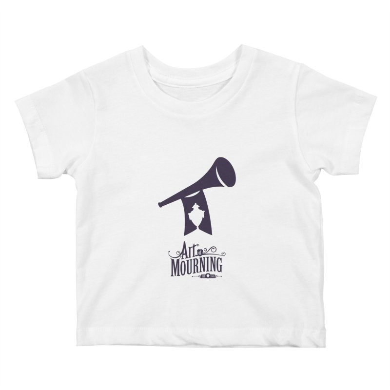 Art of Mourning 'Mourning Announcement' Kids Baby T-Shirt by The Art of Mourning Shop