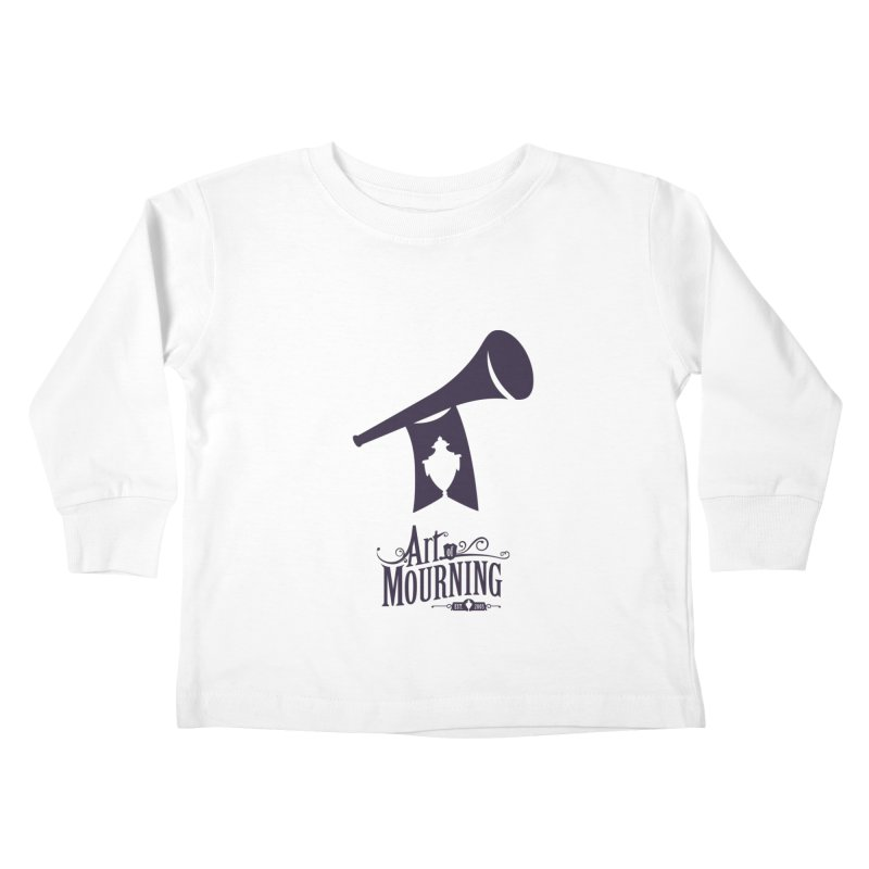 Art of Mourning 'Mourning Announcement' Kids Toddler Longsleeve T-Shirt by The Art of Mourning Shop