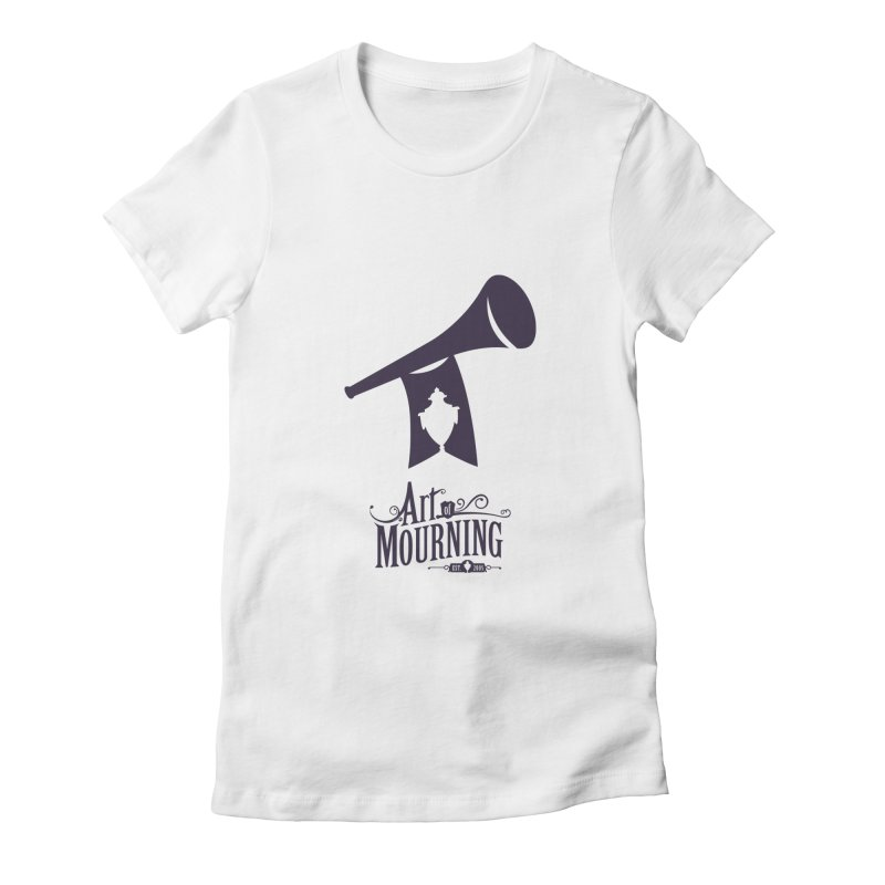 Art of Mourning 'Mourning Announcement' Women's Fitted T-Shirt by The Art of Mourning Shop