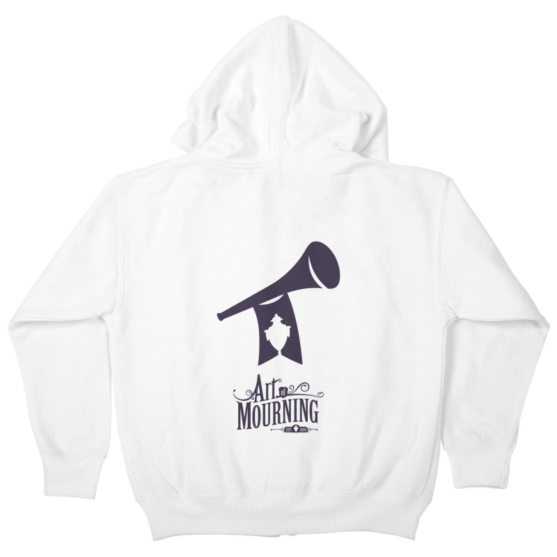 Art of Mourning 'Mourning Announcement' Kids Zip-Up Hoody by The Art of Mourning Shop