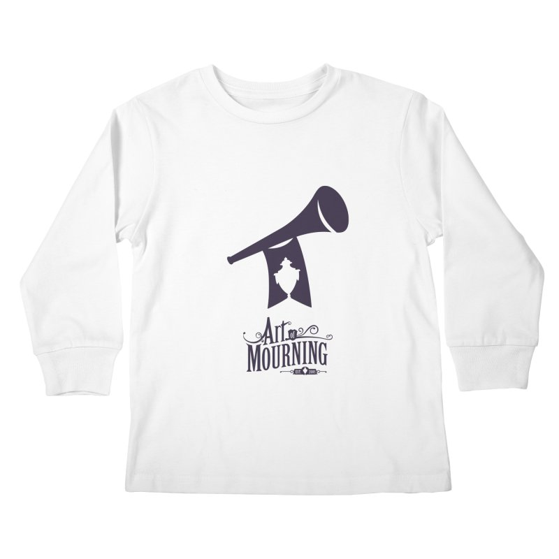 Art of Mourning 'Mourning Announcement' Kids Longsleeve T-Shirt by The Art of Mourning Shop
