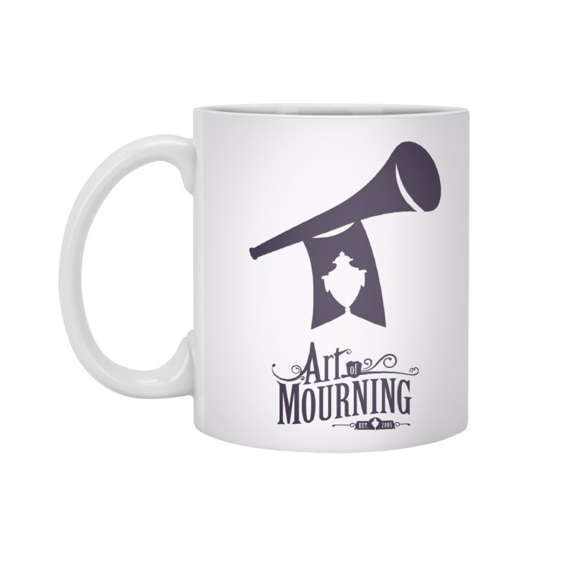 Art of Mourning 'Mourning Announcement' Accessories Mug by The Art of Mourning Shop