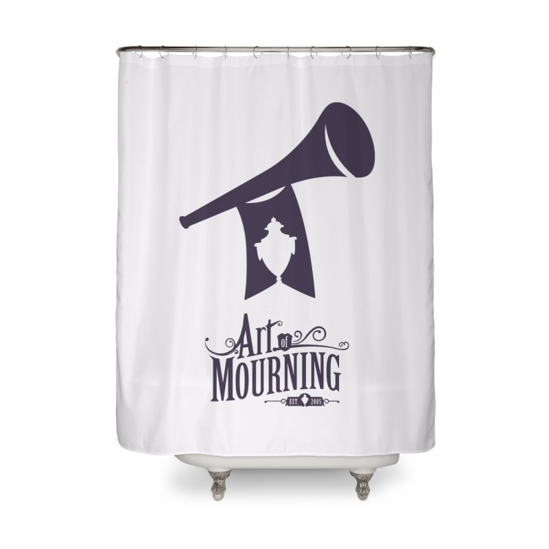 Art of Mourning 'Mourning Announcement' Home Shower Curtain by The Art of Mourning Shop
