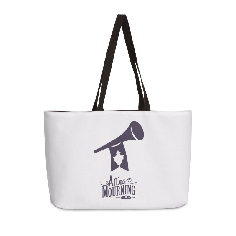 Art of Mourning 'Mourning Announcement' Accessories Weekender Bag Bag by The Art of Mourning Shop