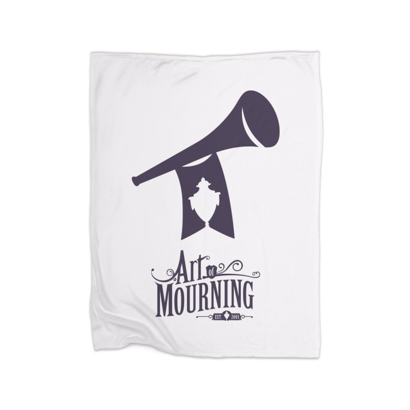Art of Mourning 'Mourning Announcement' Home Blanket by The Art of Mourning Shop