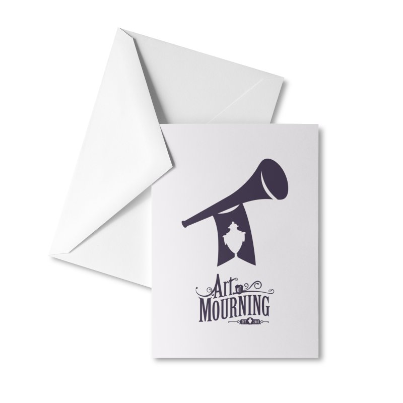 Art of Mourning 'Mourning Announcement' Accessories Greeting Card by Art of Mourning Warehouse