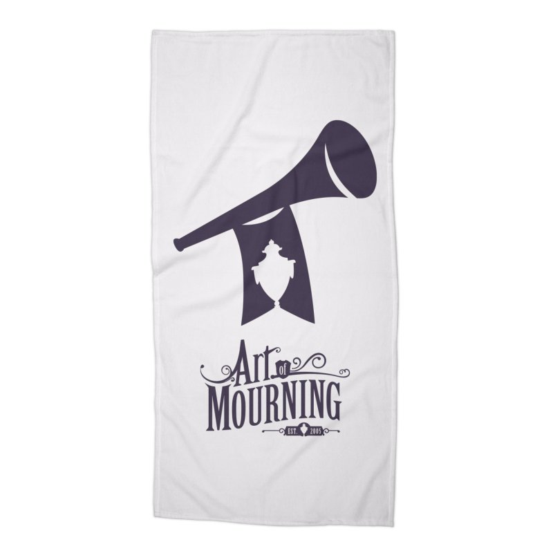Art of Mourning 'Mourning Announcement' Accessories Beach Towel by The Art of Mourning Shop