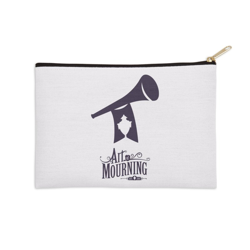 Art of Mourning 'Mourning Announcement' Accessories Zip Pouch by The Art of Mourning Shop
