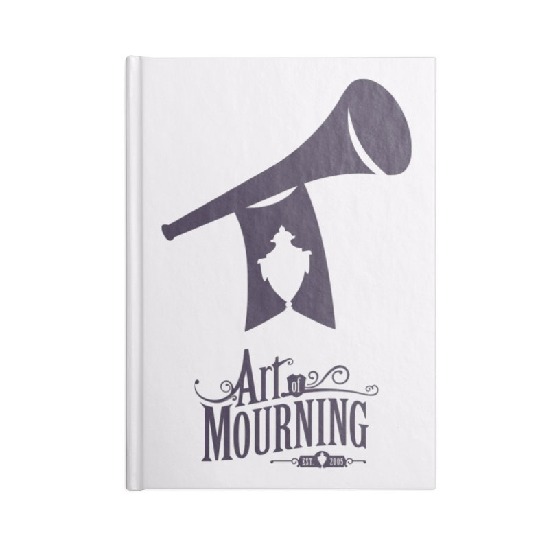 Art of Mourning 'Mourning Announcement' Accessories Blank Journal Notebook by The Art of Mourning Shop