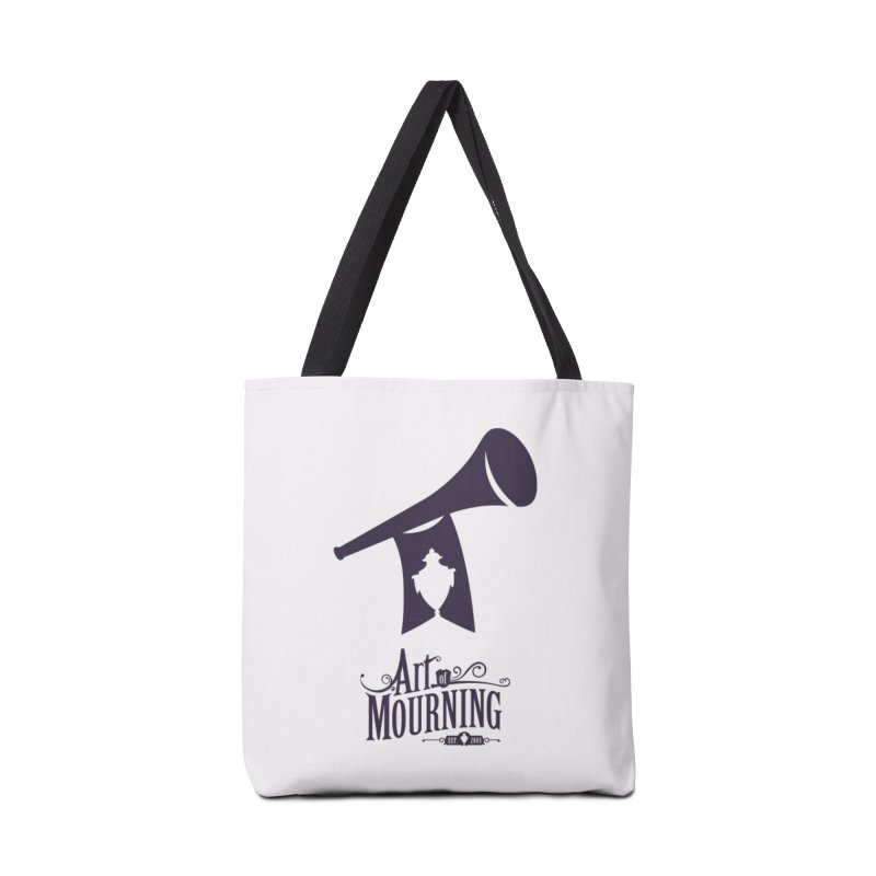 Art of Mourning 'Mourning Announcement' Accessories Tote Bag Bag by The Art of Mourning Shop