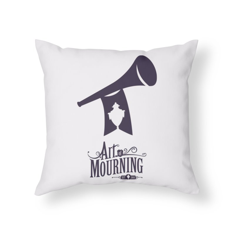 Art of Mourning 'Mourning Announcement' Home Throw Pillow by The Art of Mourning Shop