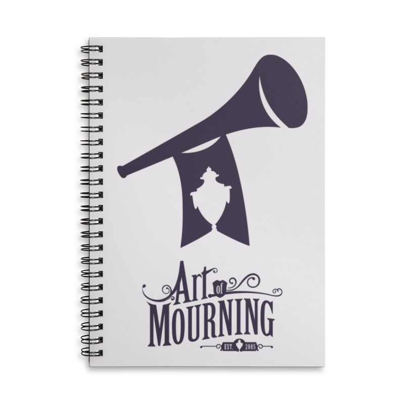 Art of Mourning 'Mourning Announcement' Accessories Lined Spiral Notebook by The Art of Mourning Shop