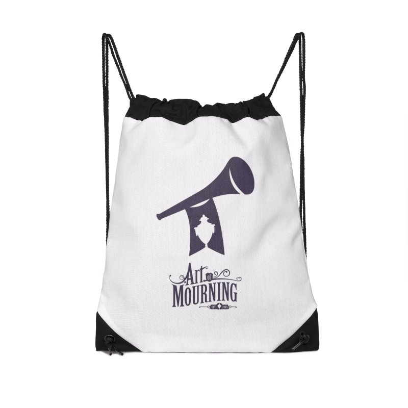 Art of Mourning 'Mourning Announcement' Accessories Drawstring Bag Bag by The Art of Mourning Shop
