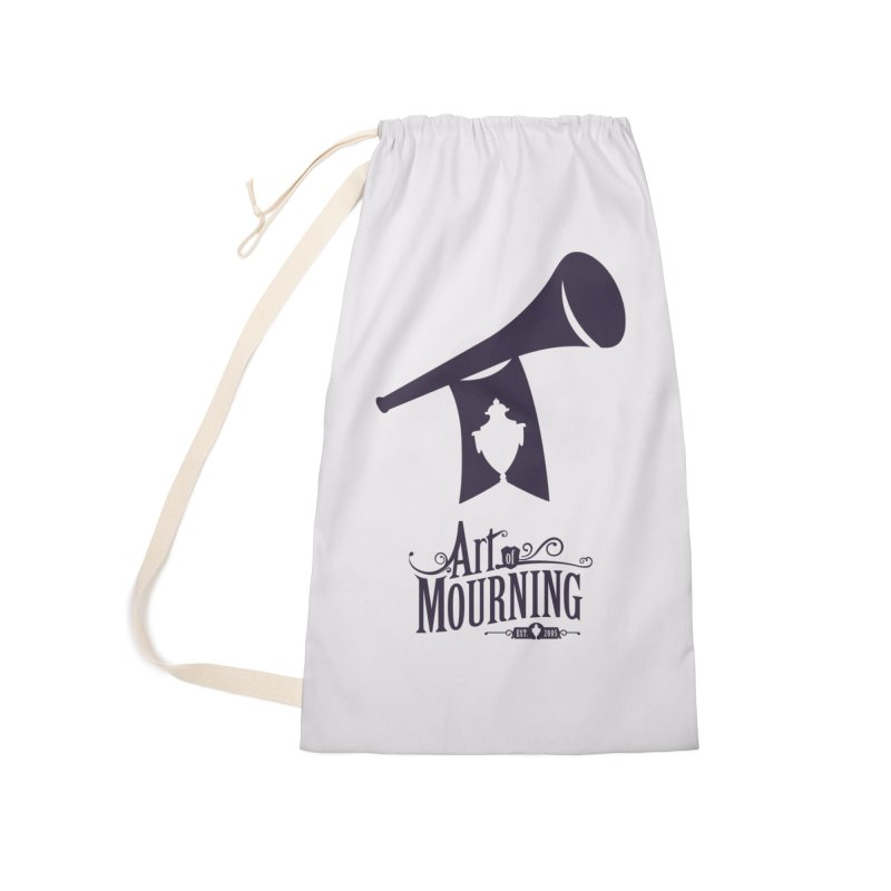 Art of Mourning 'Mourning Announcement' Accessories Laundry Bag Bag by The Art of Mourning Shop