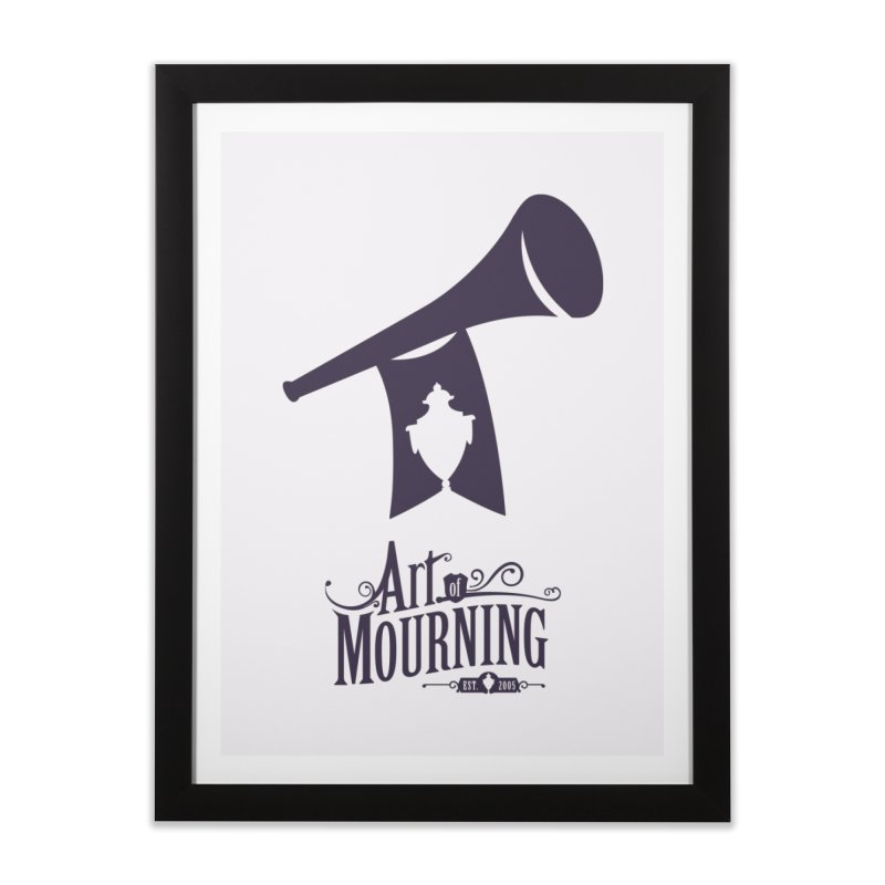 Art of Mourning 'Mourning Announcement' Home Framed Fine Art Print by The Art of Mourning Shop