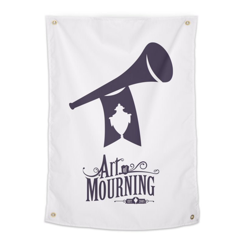 Art of Mourning 'Mourning Announcement' Home Tapestry by The Art of Mourning Shop