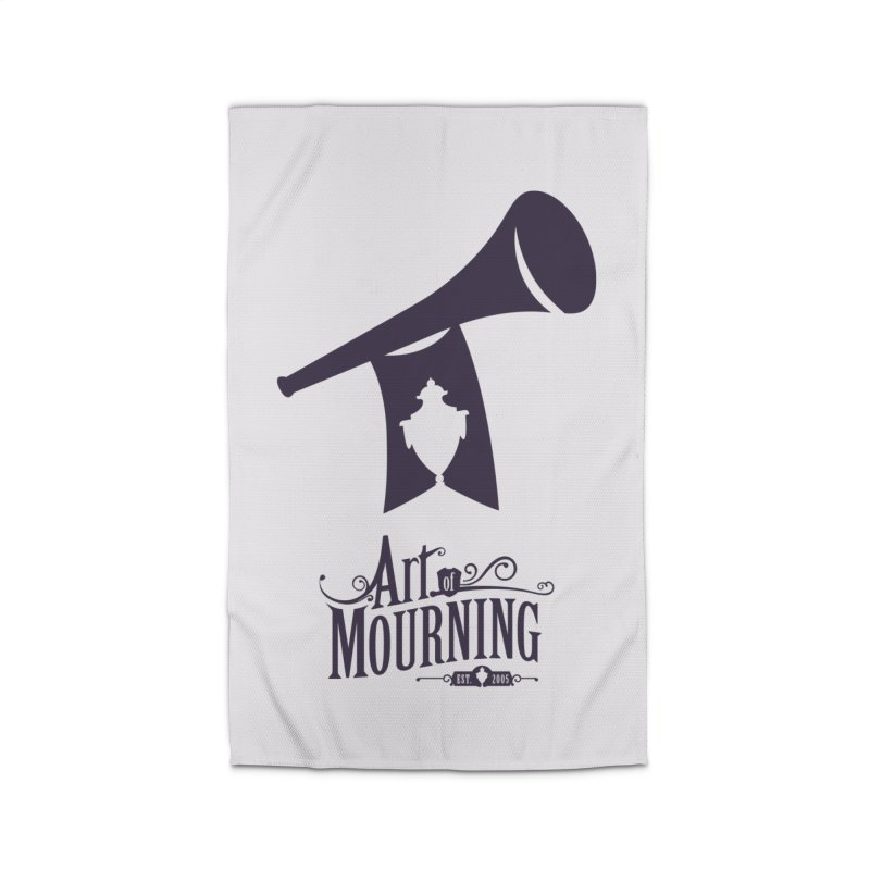 Art of Mourning 'Mourning Announcement' Home Rug by The Art of Mourning Shop