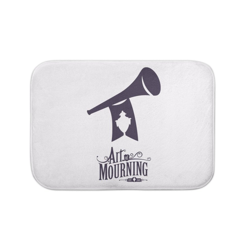 Art of Mourning 'Mourning Announcement' Home Bath Mat by The Art of Mourning Shop