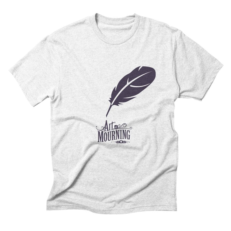 Art of Mourning 'Quill' Men's Triblend T-shirt by The Art of Mourning Shop