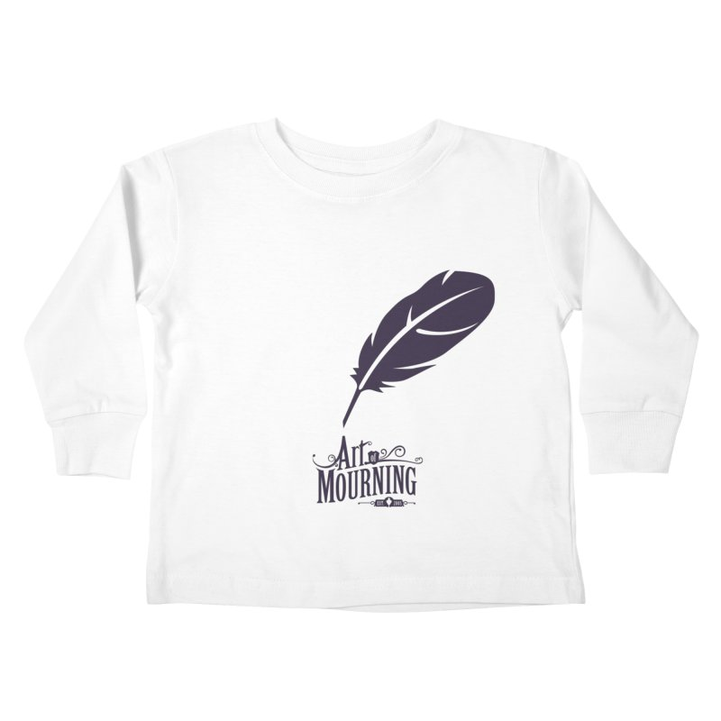 Art of Mourning 'Quill' Kids Toddler Longsleeve T-Shirt by The Art of Mourning Shop
