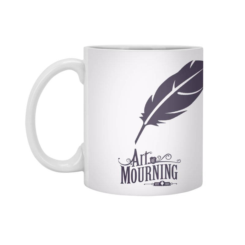 Art of Mourning 'Quill' Accessories Standard Mug by The Art of Mourning Shop