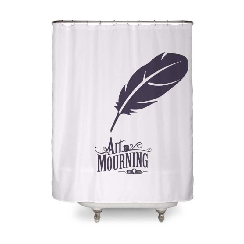 Art of Mourning 'Quill' Home Shower Curtain by The Art of Mourning Shop