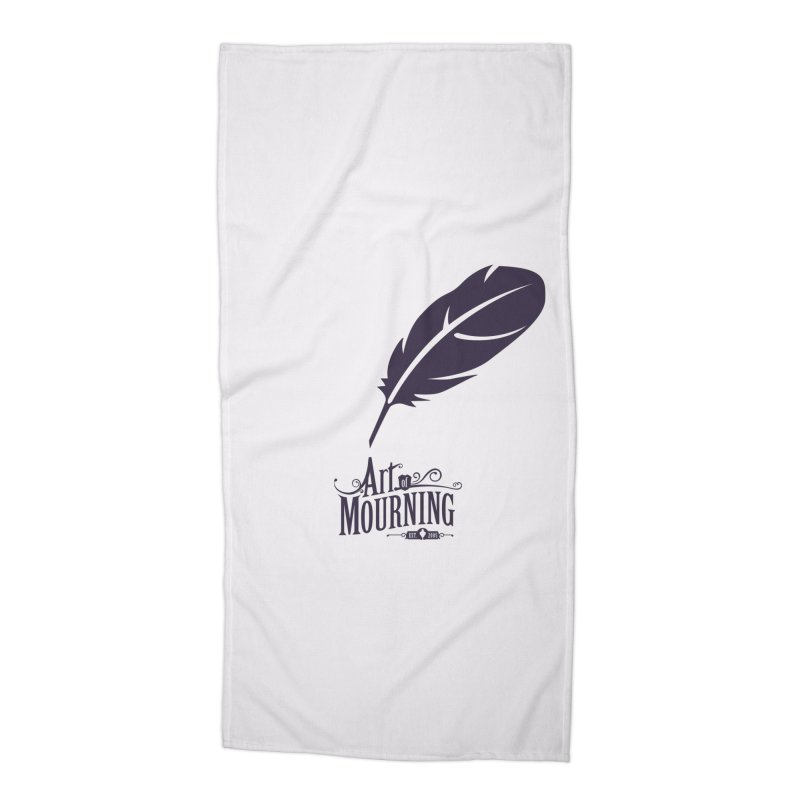 Art of Mourning 'Quill' Accessories Beach Towel by The Art of Mourning Shop