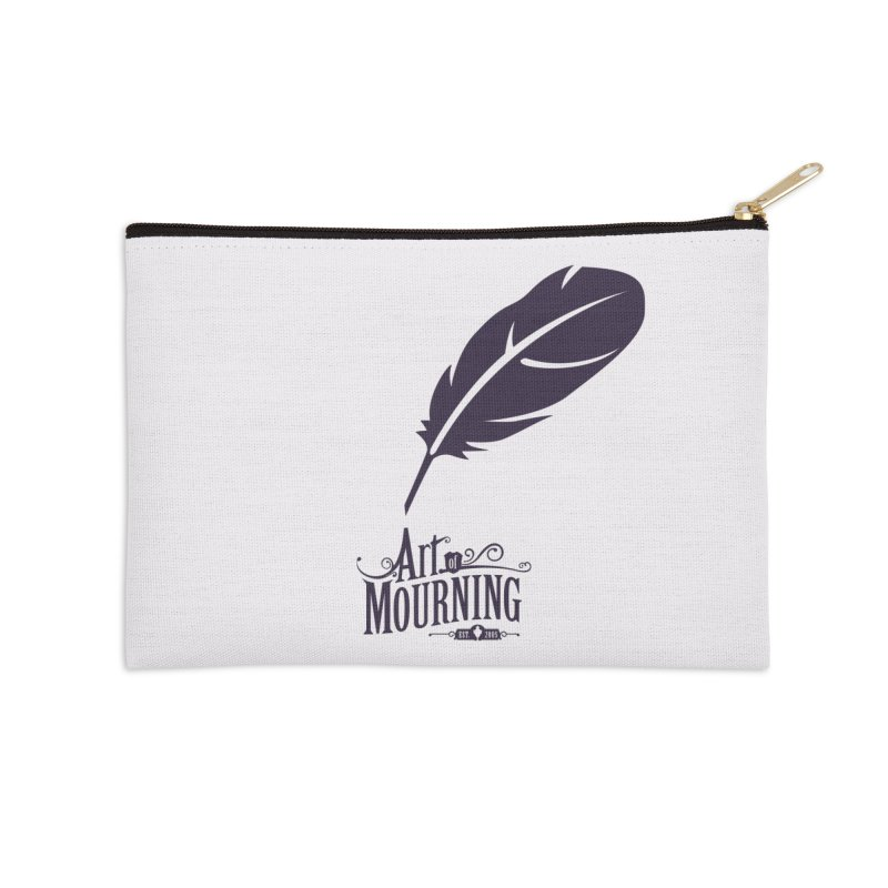Art of Mourning 'Quill' Accessories Zip Pouch by The Art of Mourning Shop