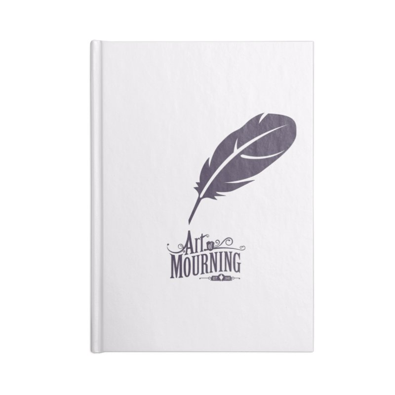 Art of Mourning 'Quill' Accessories Blank Journal Notebook by The Art of Mourning Shop