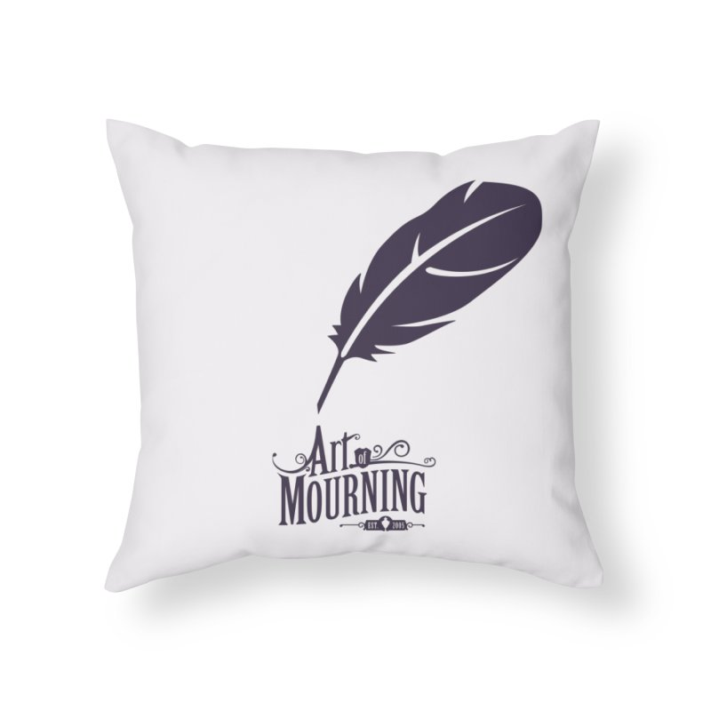 Art of Mourning 'Quill' Home Throw Pillow by The Art of Mourning Shop