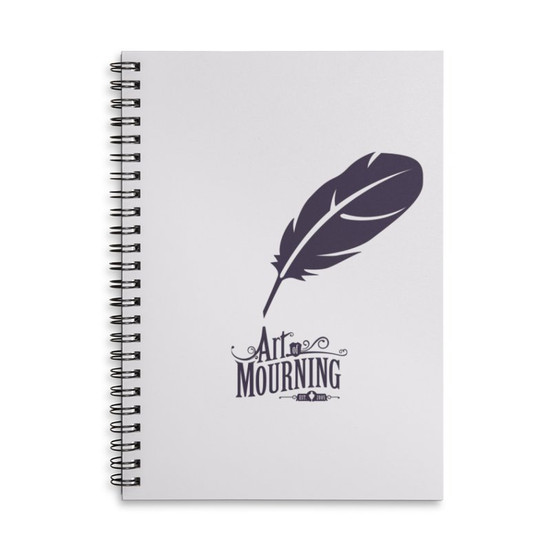 Art of Mourning 'Quill' Accessories Notebook by The Art of Mourning Shop