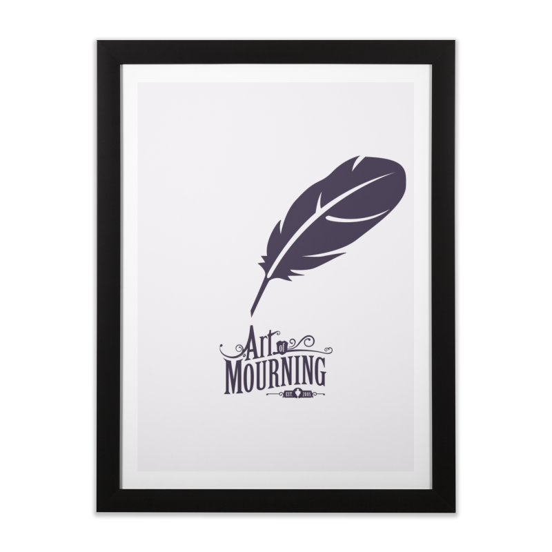 Art of Mourning 'Quill' Home Framed Fine Art Print by The Art of Mourning Shop