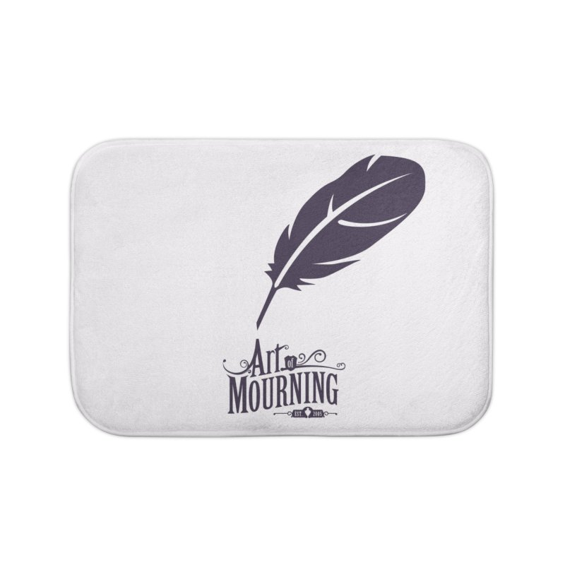 Art of Mourning 'Quill' Home Bath Mat by The Art of Mourning Shop