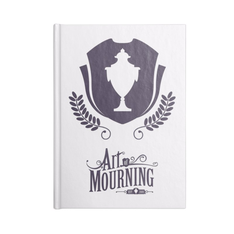 Art of Mourning 'Regal' Accessories Lined Journal Notebook by The Art of Mourning Shop