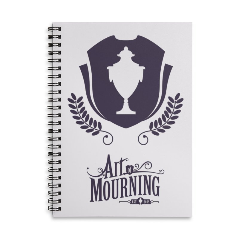 Art of Mourning 'Regal' Accessories Lined Spiral Notebook by The Art of Mourning Shop