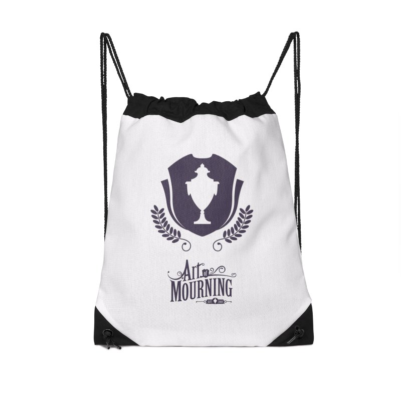 Art of Mourning 'Regal' Accessories Drawstring Bag Bag by The Art of Mourning Shop