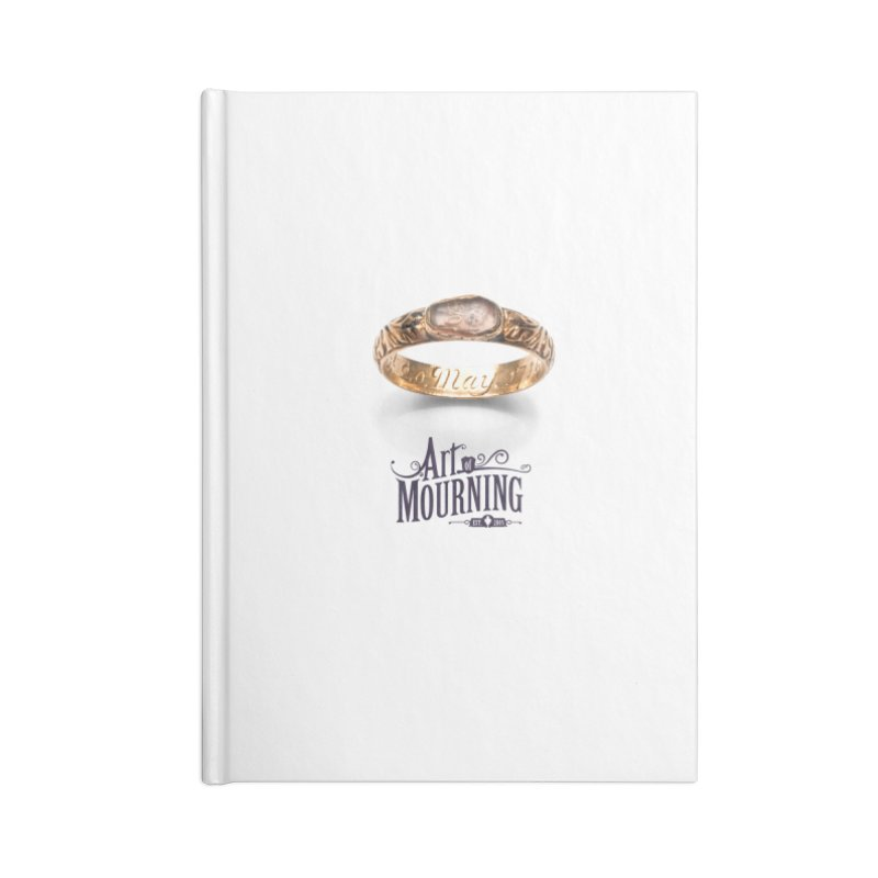 Art of Mourning 'Coffin Ring' Accessories Blank Journal Notebook by The Art of Mourning Shop
