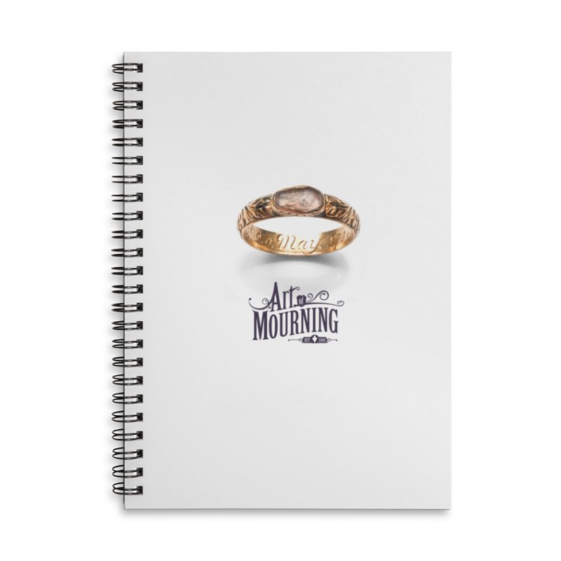 Art of Mourning 'Coffin Ring' Accessories Lined Spiral Notebook by The Art of Mourning Shop