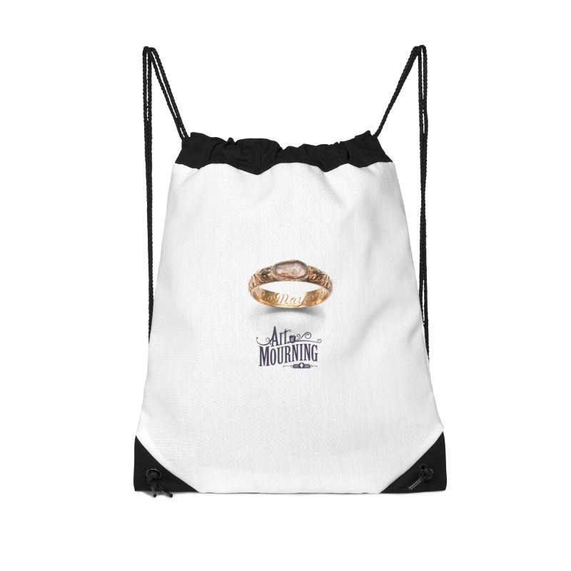 Art of Mourning 'Coffin Ring' Accessories Drawstring Bag Bag by The Art of Mourning Shop