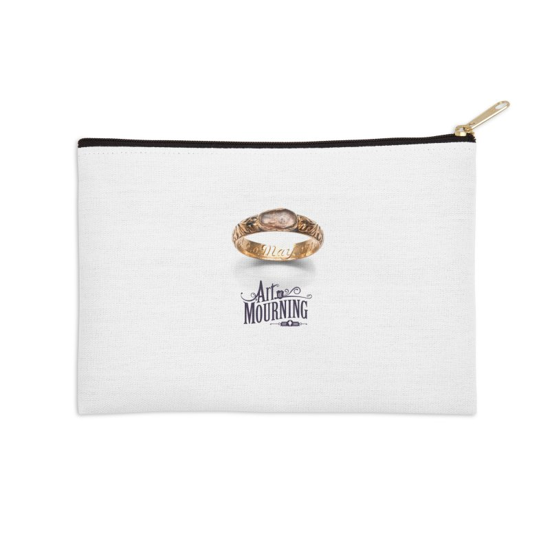 Art of Mourning 'Coffin Ring' Accessories Zip Pouch by The Art of Mourning Shop