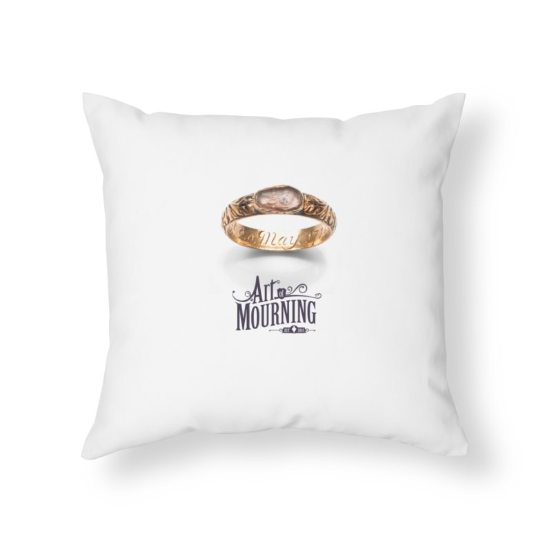 Art of Mourning 'Coffin Ring' Home Throw Pillow by The Art of Mourning Shop