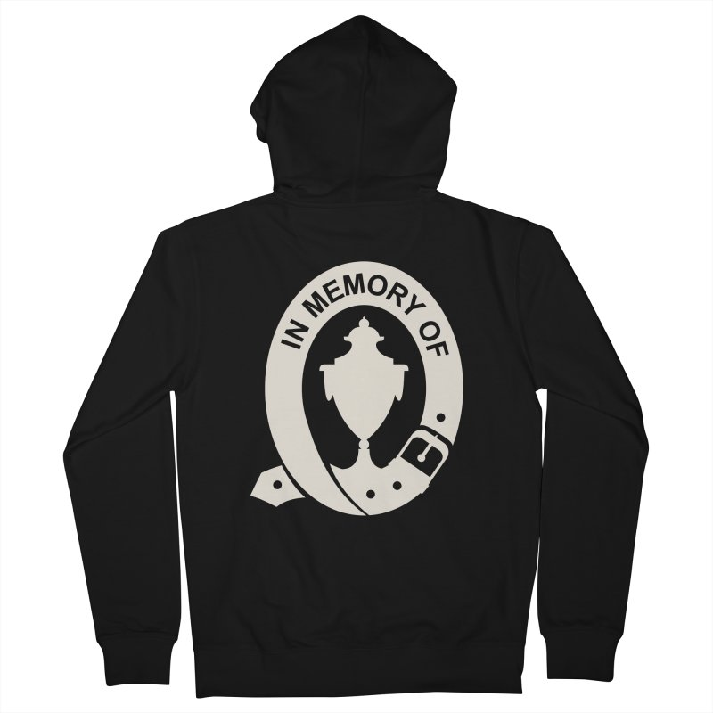 Art of Mourning 'In Memory Of' Reverse Women's French Terry Zip-Up Hoody by The Art of Mourning Shop