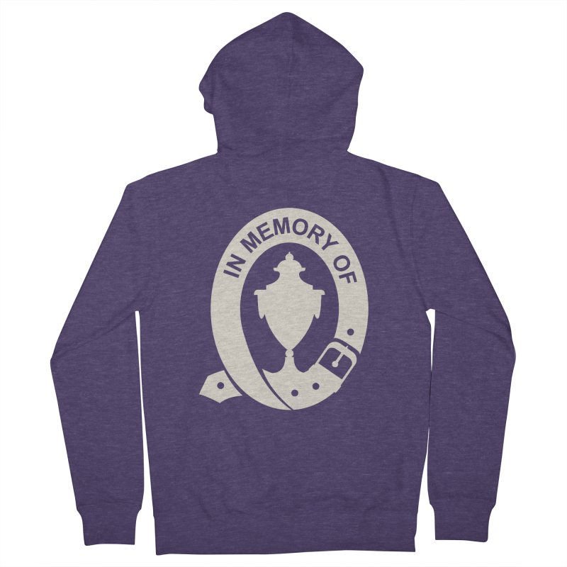 Art of Mourning 'In Memory Of' Reverse Men's Zip-Up Hoody by The Art of Mourning Shop