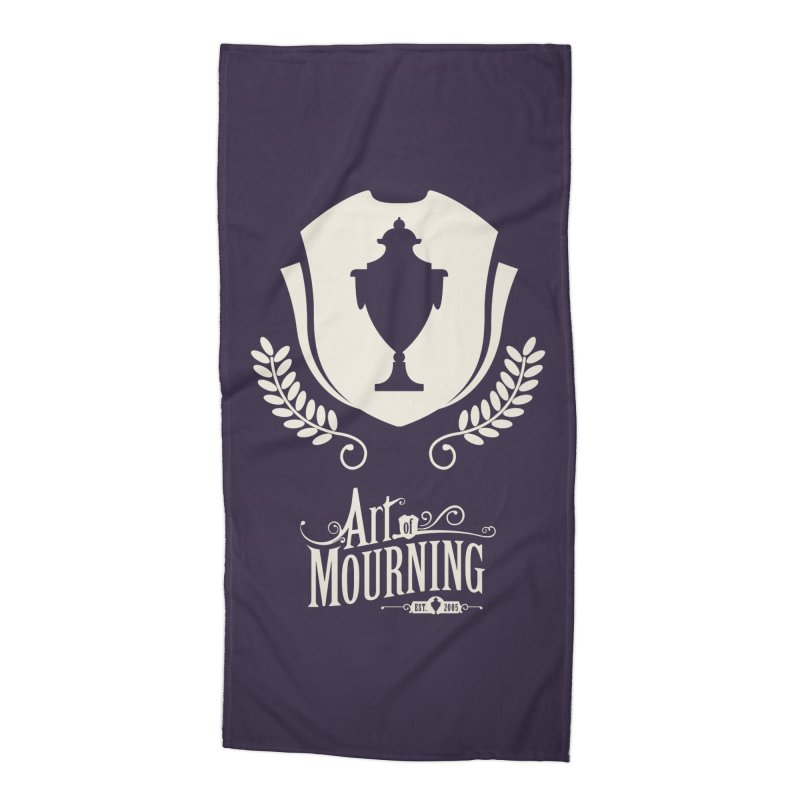 Art of Mourning 'Regal' Reverse Accessories Beach Towel by Art of Mourning Warehouse