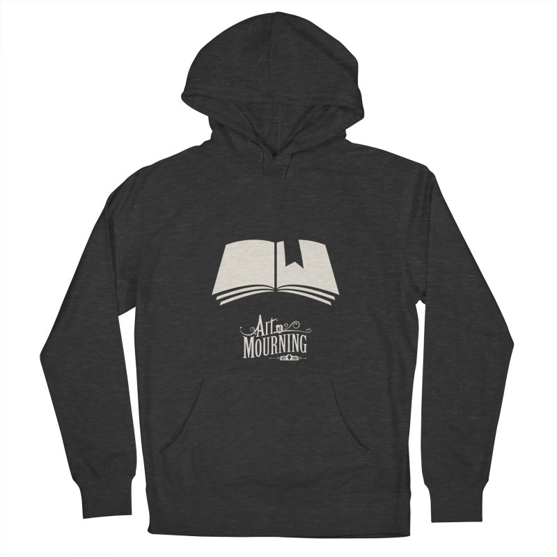 Art of Mourning 'Book' Reverse Men's French Terry Pullover Hoody by The Art of Mourning Shop