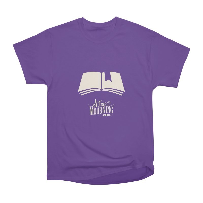 Art of Mourning 'Book' Reverse Women's Heavyweight Unisex T-Shirt by The Art of Mourning Shop